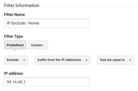 IP Exclude Settings in Google Analytics